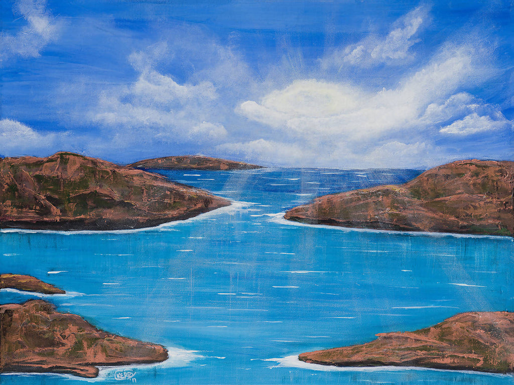 I Am A River, Acrylic Painting by Kerry Sandhu Artist