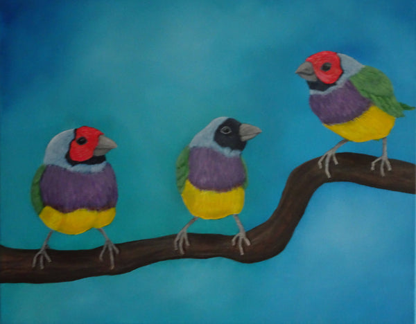 The Branch Meeting, Acrylic Painting by Julie-Anne Gatehouse Amazing Corn Art Studio Artist