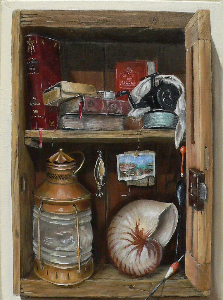 Fisherman Box, Oil Painting by Gerard Maille Artist