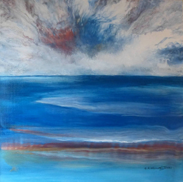 Atmospheric Sky, Acrylic Painting by Clare Riddington Jones Artist