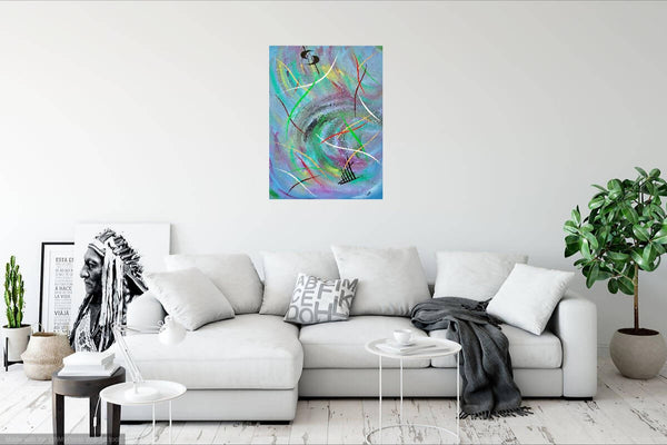 SWIRLING VIBRATIONS, Acrylic Painting by Rick Smith Artist