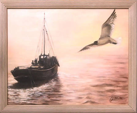 The Early catch, Oil Painting by Gerard Maille Artist