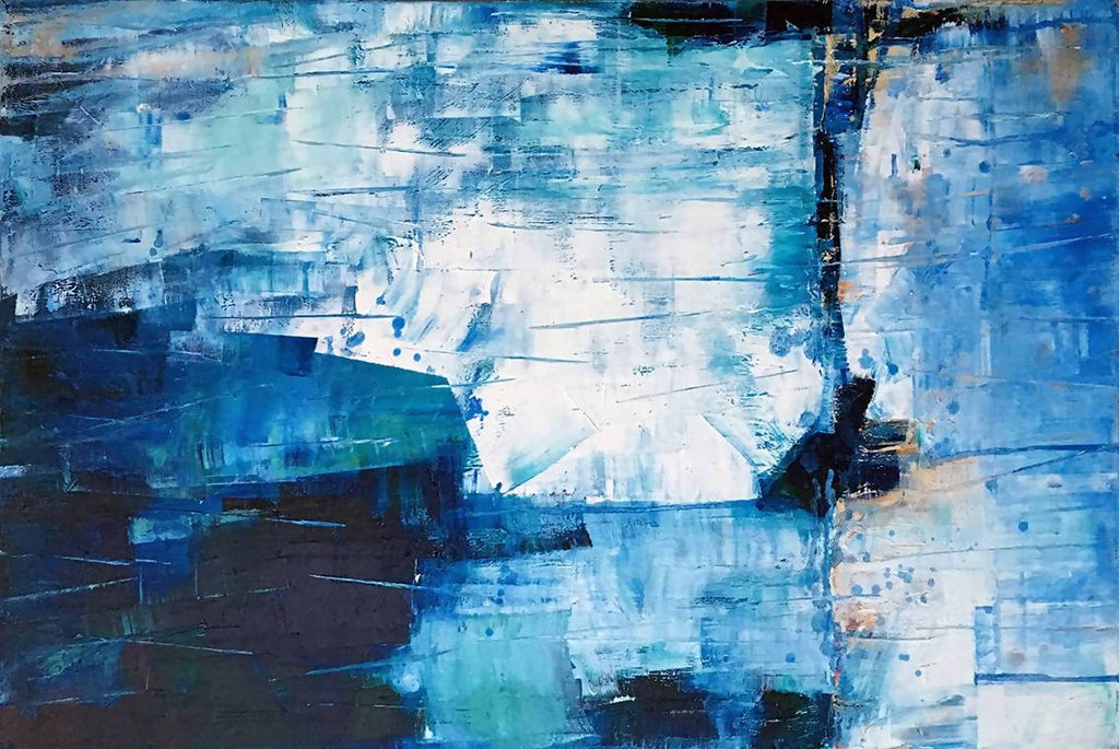 Blue Cliffs, Oil Painting by David Clare Artist