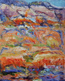SANTA FE, NEW MEXICO 1, Oil Painting by maureen finck Artist