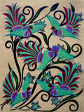 Birds And Blooms No 5, Acrylic Painting by Lisa Dangerfield Artist
