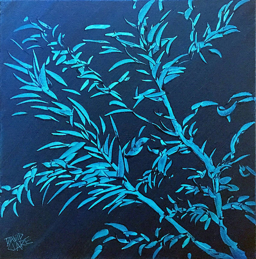 Teal Leaves, Oil Painting by David Clare Artist