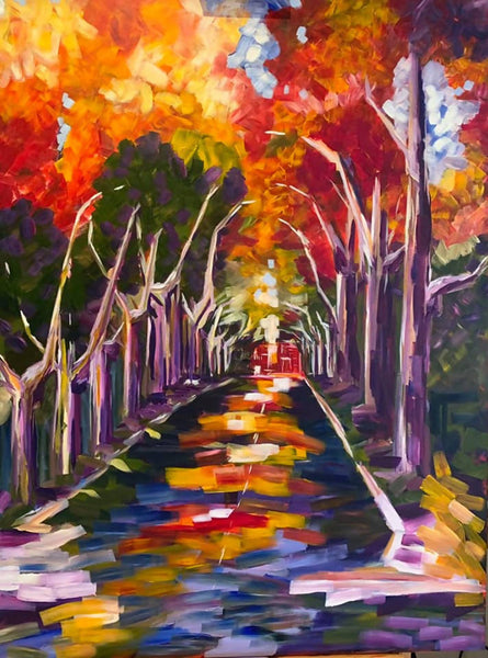 Autumn in Gurwood Street - The Riverina Series, Acrylic Painting by Maggie Deall Artist
