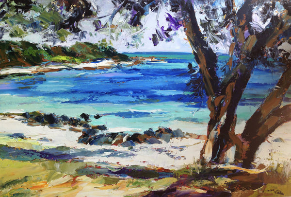 Old Dunsborough Foreshore (Framed), Oil Painting by Carmen McFaull Artist