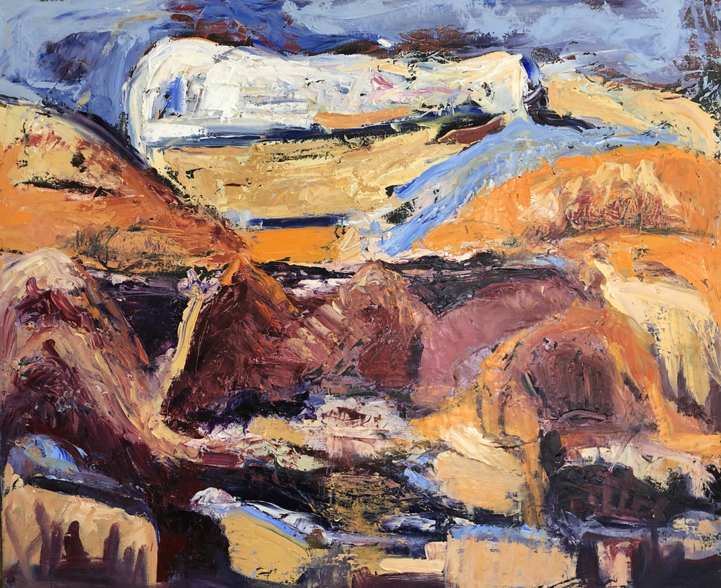 MOUNTANS OF SANTA FE, Oil Painting by maureen finck Artist