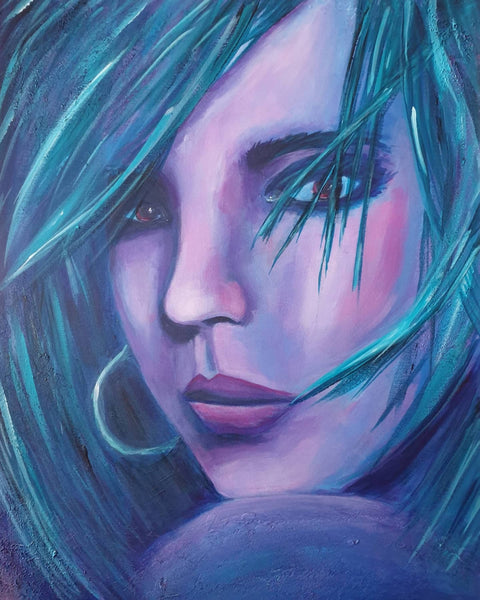 Psychosonic Cindy, Acrylic Painting by Kerry Sandhu Artist