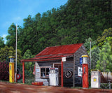 Woods Point historic service station, Victoria, Australia, Limited edition giclee print, Limited Edition Print by Debra Dickson Artist