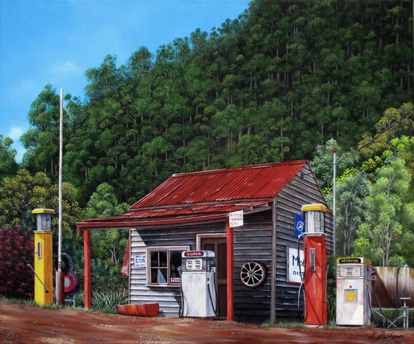 Woods Point historic service station, Victoria, Australia, Limited edition giclee print
