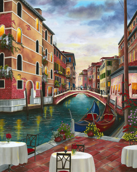 Evening in Venice , Italy, Limited Edition Giclee Print, Limited Edition Print by Debra Dickson Artist