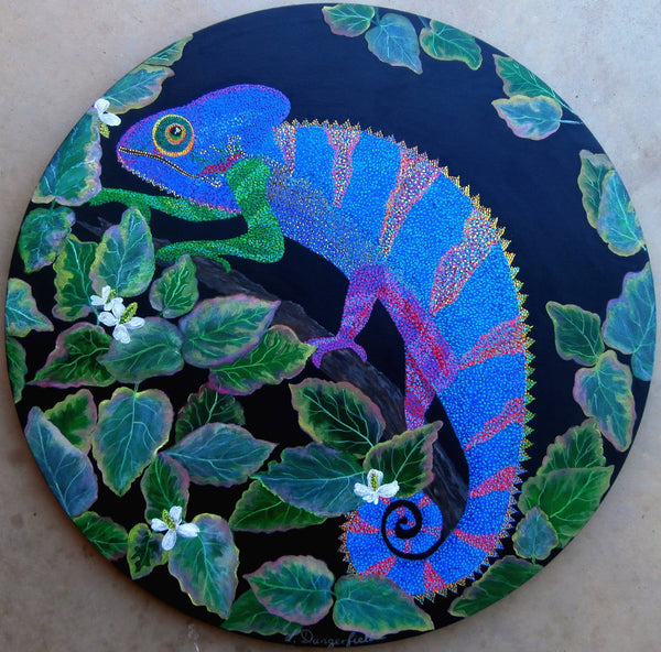 Chameleon, Acrylic Painting by Lisa Dangerfield Artist