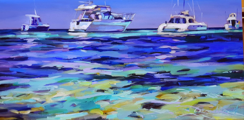 Perfect Day On The Bay, Oil Painting by Carmen McFaull Artist