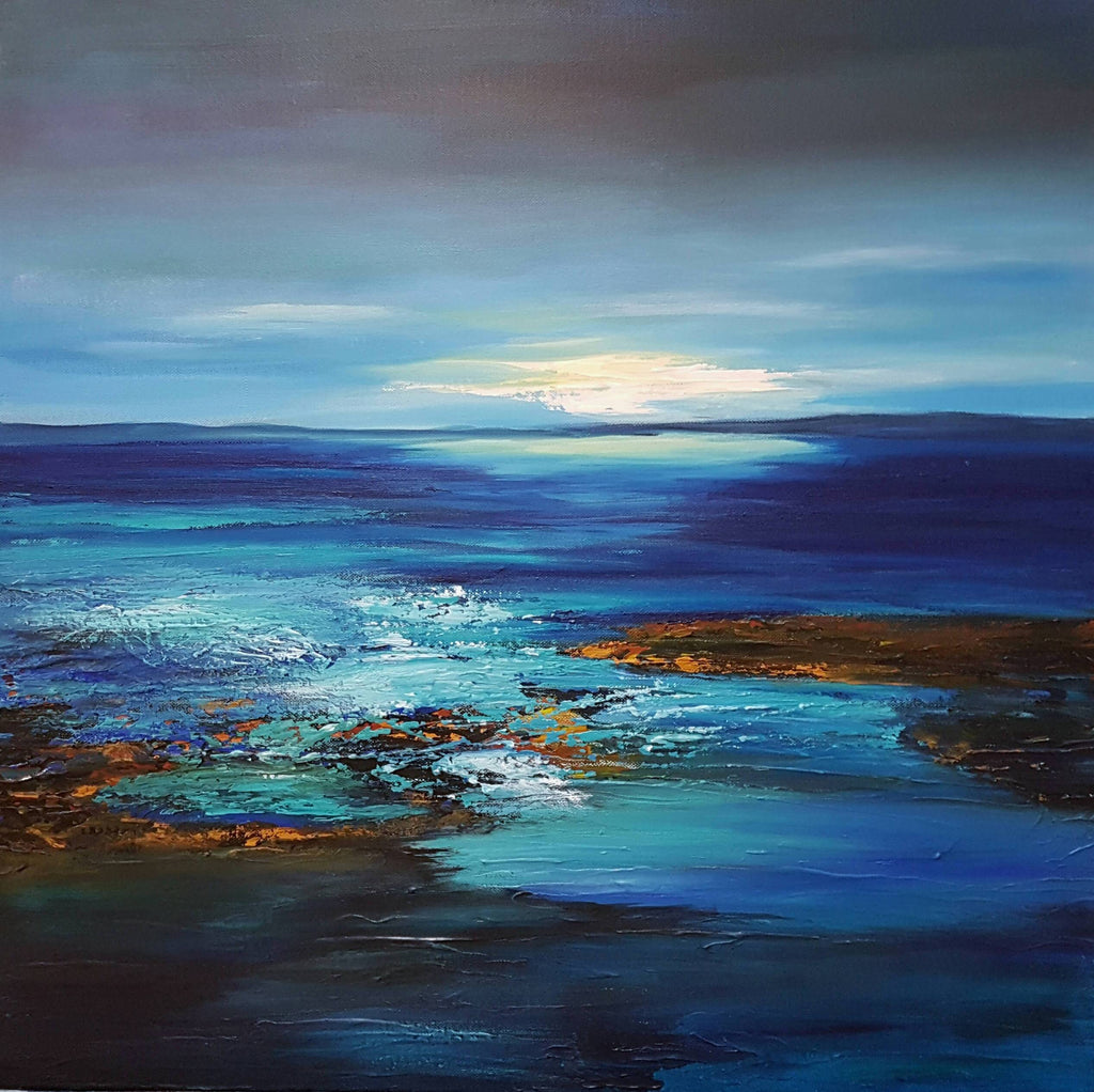 Light Before the Storm, Acrylic Painting by Clare Riddington Jones Artist