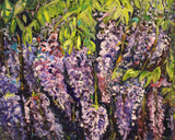 WISTERIA ARBOR 2, Oil Painting by maureen finck Artist