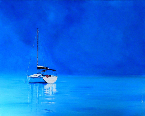 Calm Waters, Acrylic Painting by Julie Hollis Artist