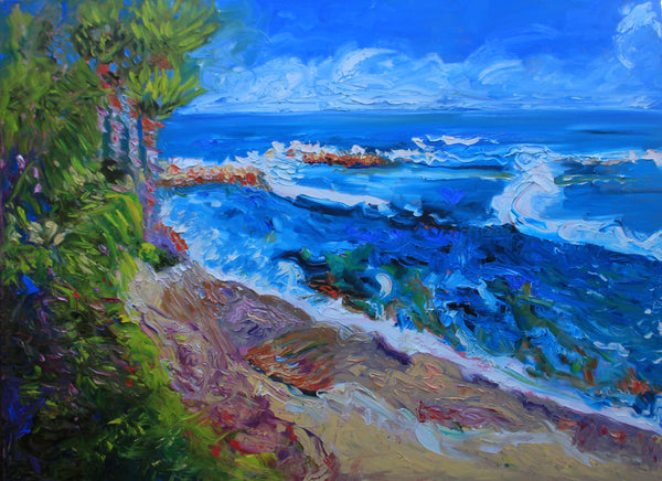 LAGUNA BEACH, CALIFORNIA, Oil Painting by maureen finck Artist