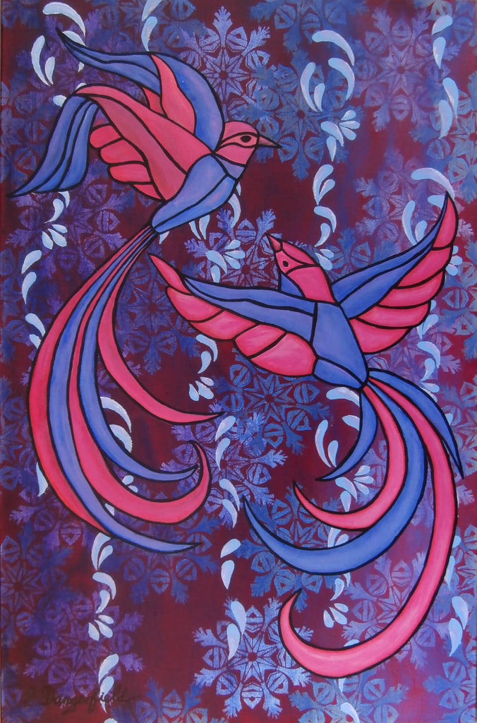Birds Of A Feather, Acrylic Painting by Lisa Dangerfield Artist