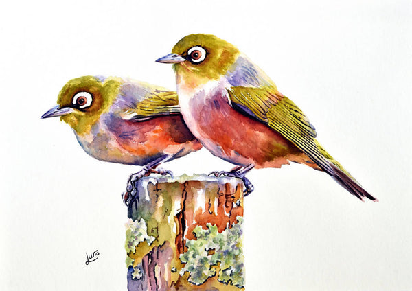 Mr & Mrs Smith, Watercolour Painting by Luna Vermeulen Artist