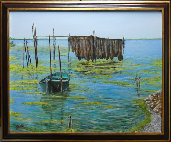Until the next catch, Oil Painting by Gerard Maille Artist