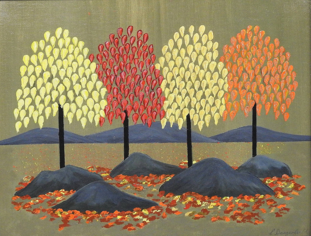 Seasons Autumn, Acrylic Painting by Lisa Dangerfield Artist