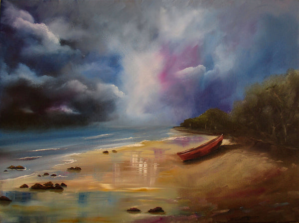 Abandoned 90 mile beach, Oil Painting by Debra Dickson Artist