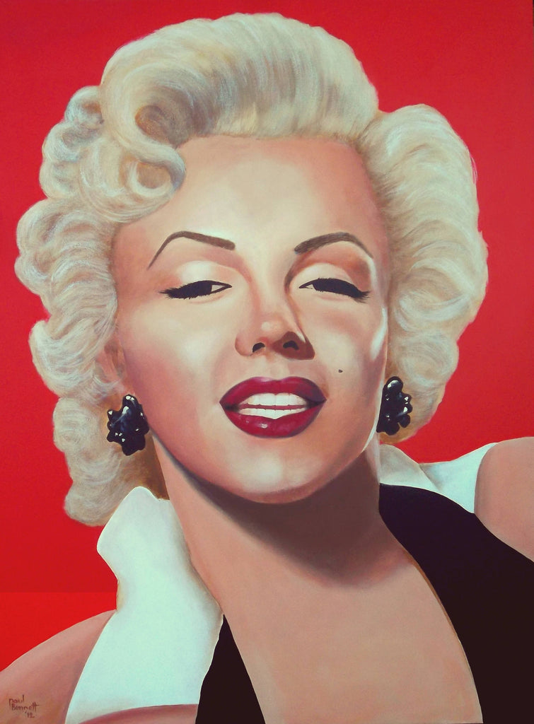 Marilyn, Acrylic Painting by Paul Bennett Artist