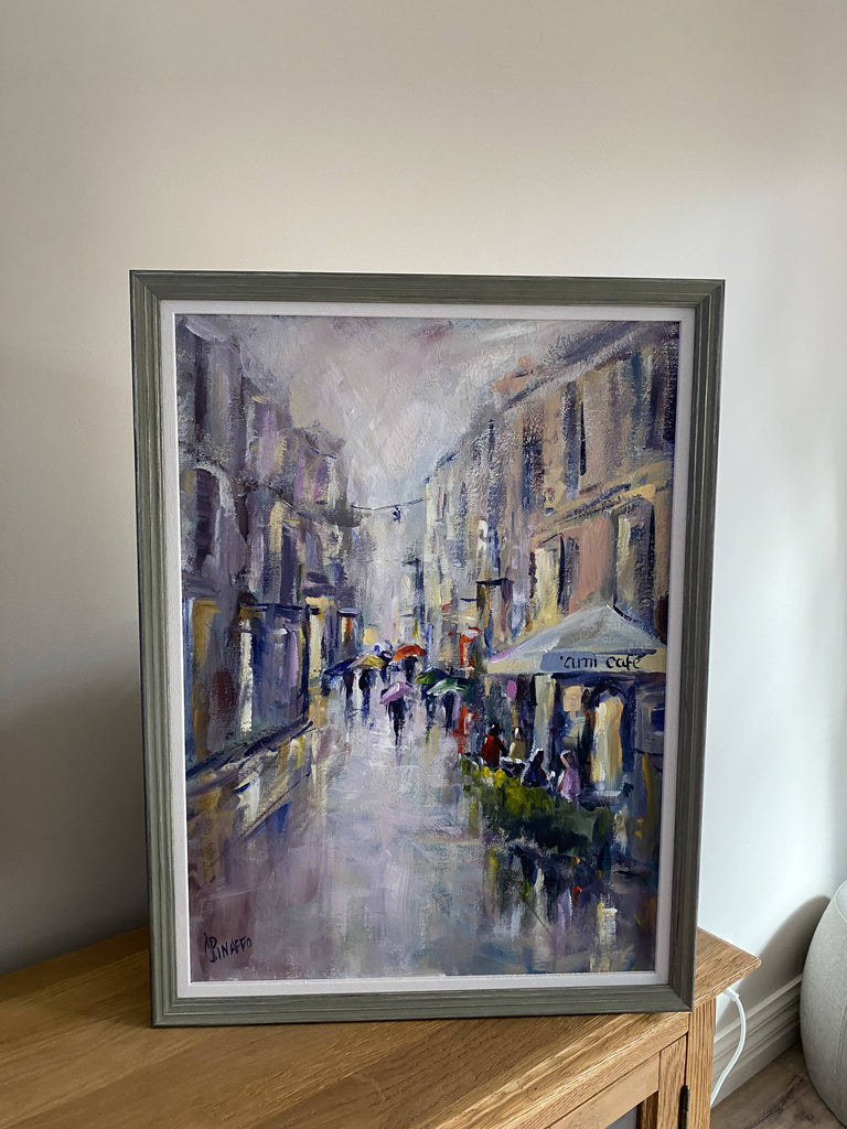 Raining in Rome, Acrylic Painting by IVANA PINAFFO Artist