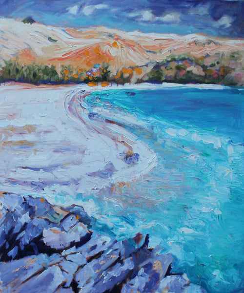 RAPID BAY, SOUTH AUSTRALIA, Oil Painting by maureen finck Artist