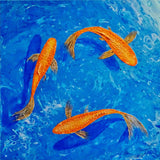 Gold Fish, Acrylic Painting by Julie-Anne Gatehouse Amazing Corn Art Studio Artist
