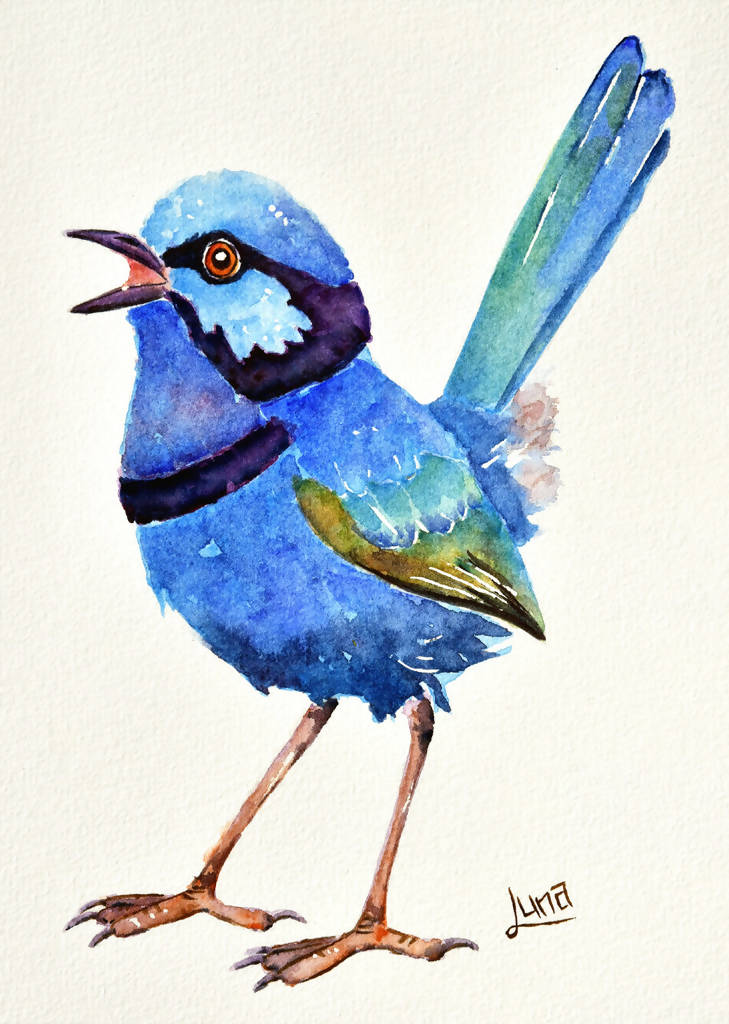 Jon Snow, Watercolour Painting by Luna Vermeulen Artist