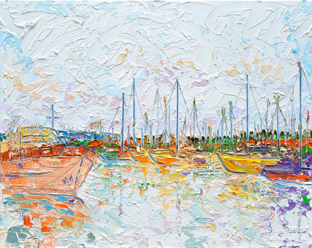 Constitution Dock 3, Acrylic Painting by Joseph Villanueva Artist