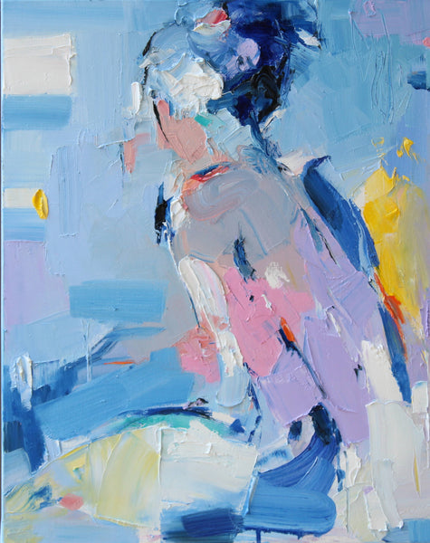 French Blue 2, Oil Painting by Li Zhou Artist
