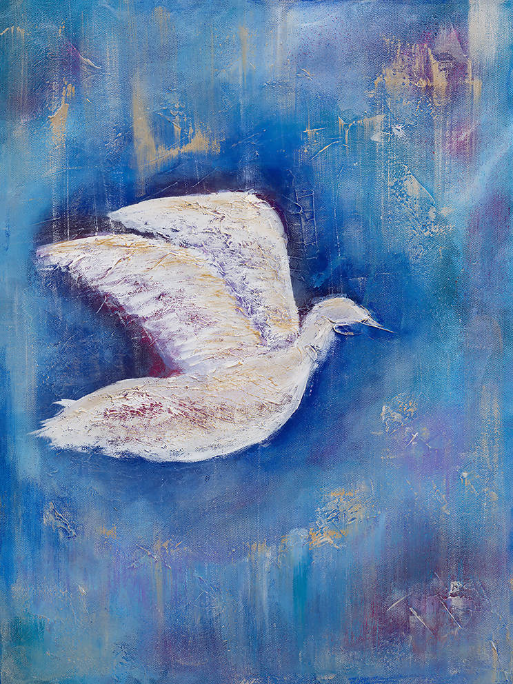 Free Bird, Acrylic Painting by Kerry Sandhu Artist