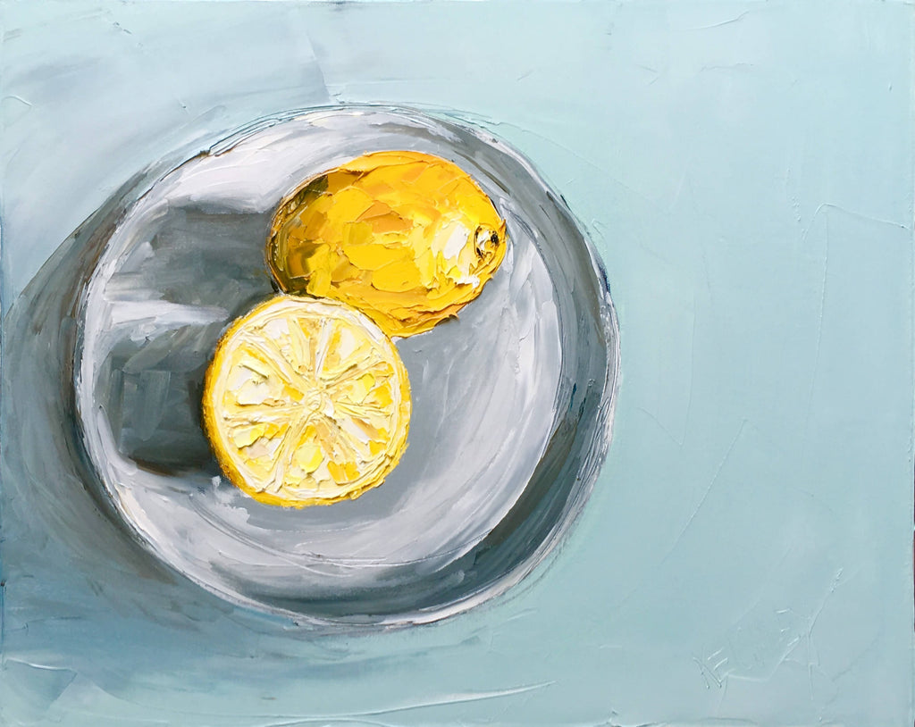 Favourite Things- Impasto lemons, Oil Painting by Michelle Keighley Artist