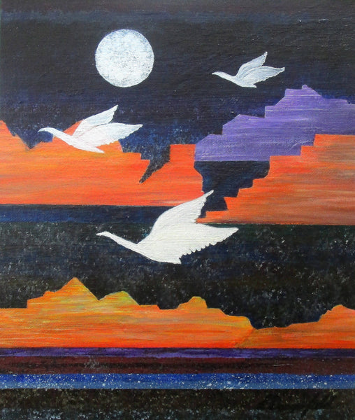 Migration, Acrylic Painting by Lisa Dangerfield Artist