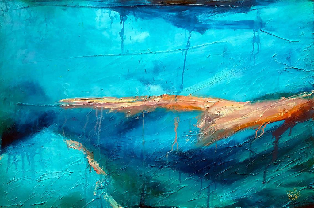 Out Of The Blue, Oil Painting by David Clare Artist