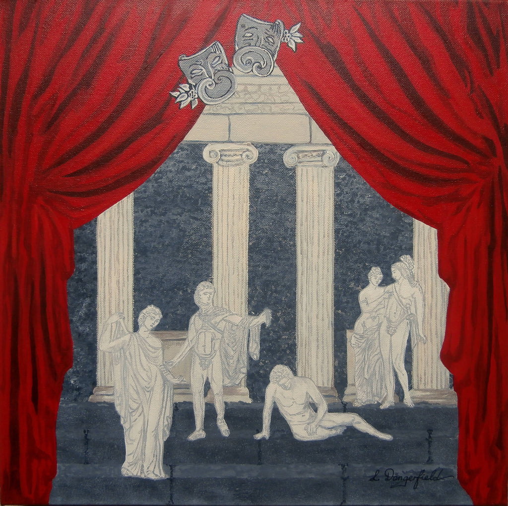 A Greek Tragedy, Acrylic Painting by Lisa Dangerfield Artist