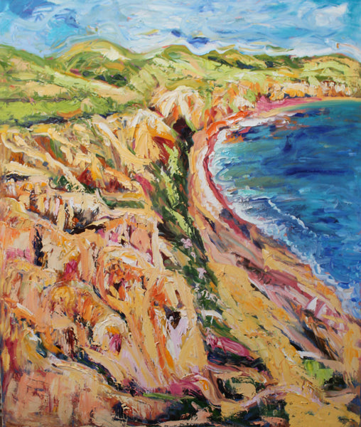 SELLICKS BEACH, SOUTH AUSTRALIA, Oil Painting by maureen finck Artist