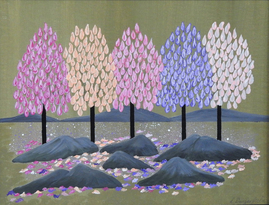 Seasons Spring, Acrylic Painting by Lisa Dangerfield Artist
