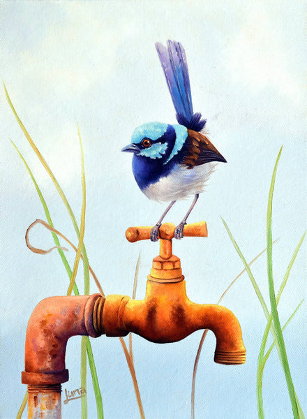 The Plumber, Oil Painting by Luna Vermeulen Artist
