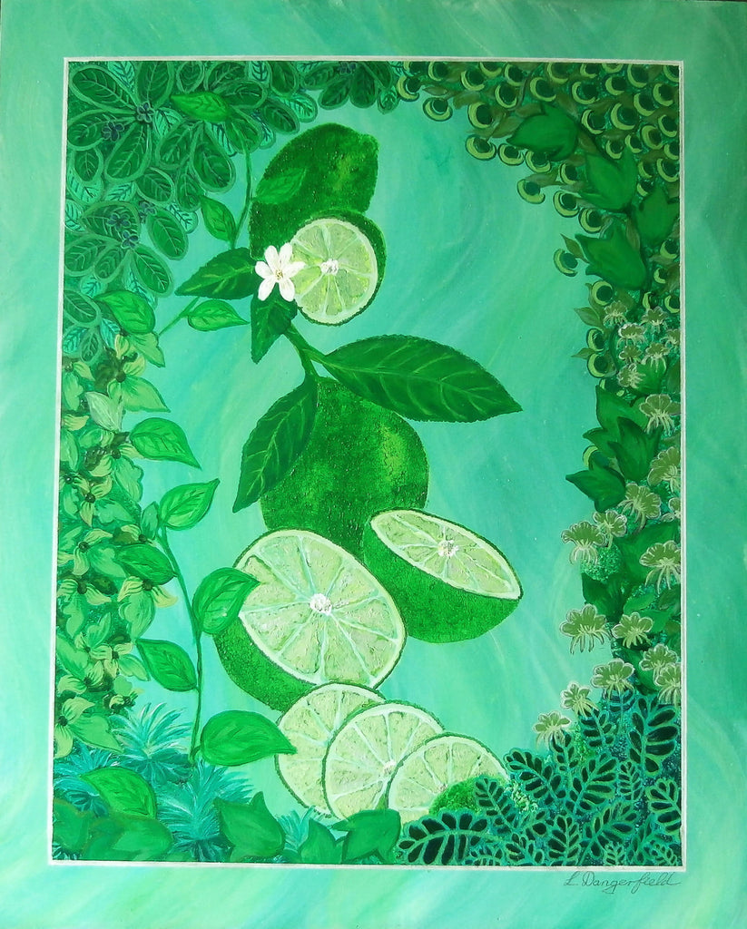 Citrus Lime, Acrylic Painting by Lisa Dangerfield Artist
