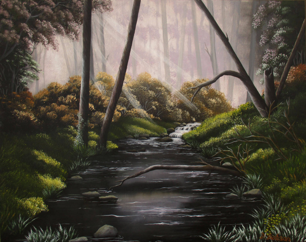 DEEP IN THE FOREST, Acrylic Painting by Debra Dickson Artist