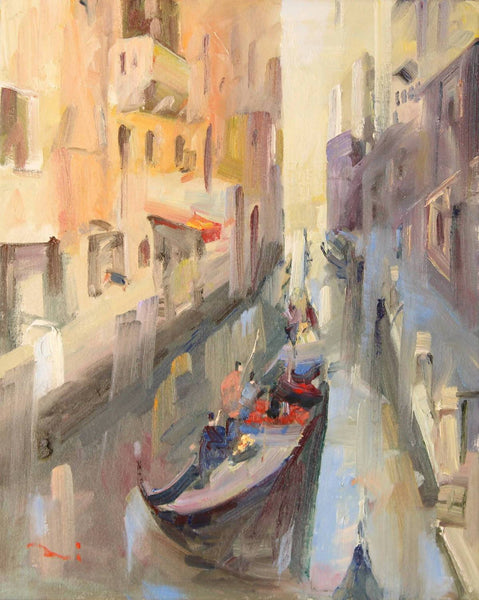Venice Canal III (framed), Oil Painting by Li Zhou Artist
