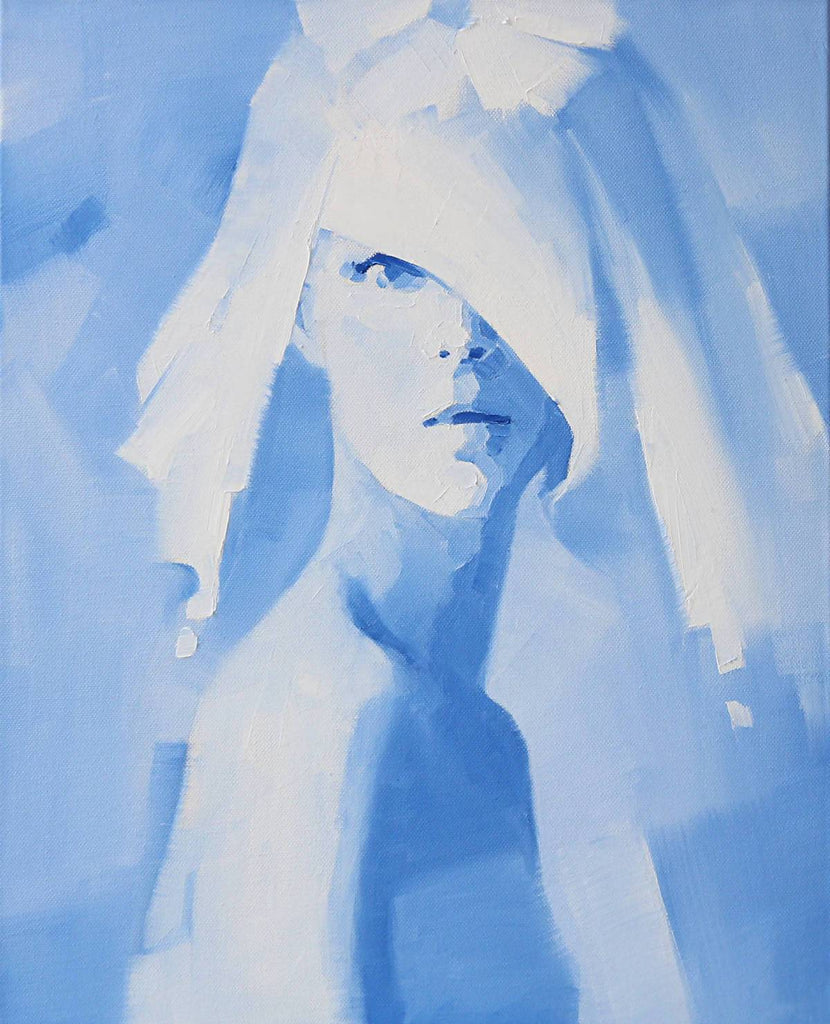 Heaven Blue, Oil Painting by Li Zhou Artist