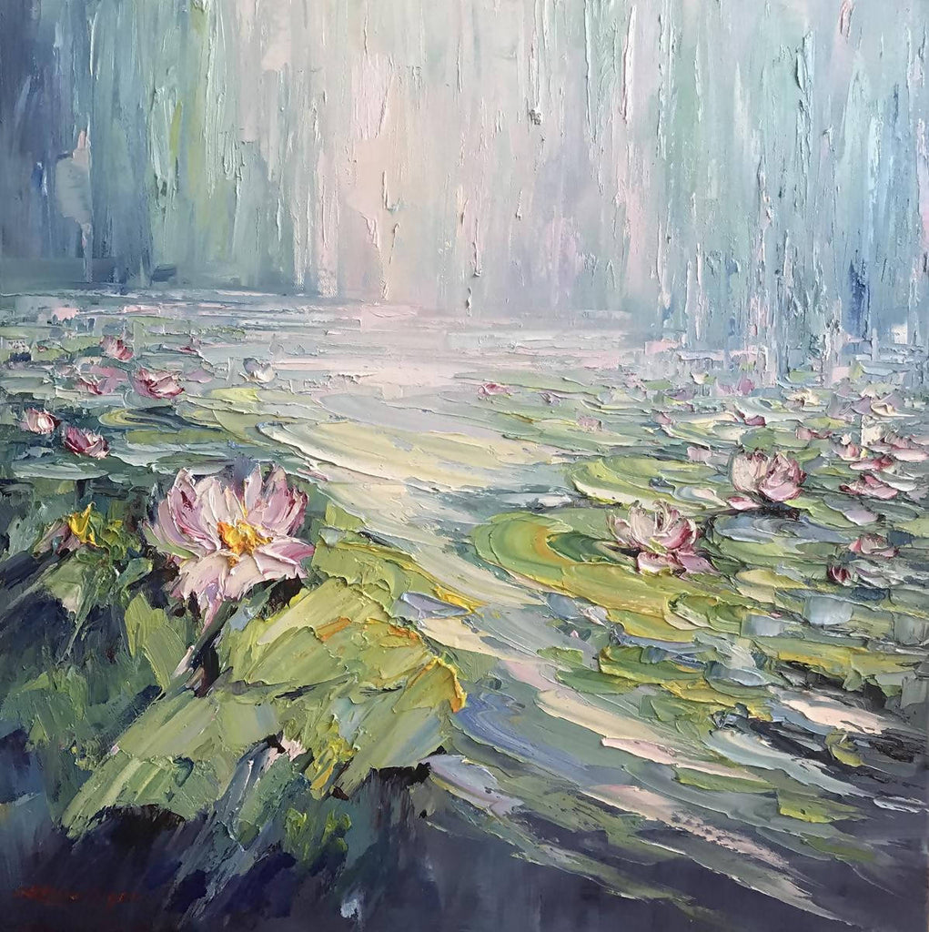 Water lilies No 10, Oil Painting by Liliana Gigovic Artist