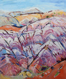 SANTA FE MOUNTAINS, Oil Painting by maureen finck Artist