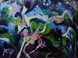 ABSTRACT SEAWEED 2, Oil Painting by maureen finck Artist